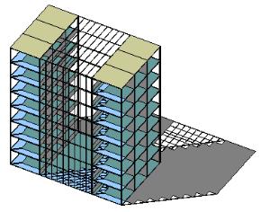 thermische Gebäudesimulation Verschattung Atrium